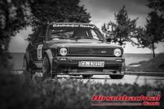 VW Polo BJ:  1980, 1300 ccm Hans Edelhäuser,  Itzgrund/ Kaltenbrunn Startnummer:  027