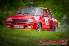 Renault R5 turbo BJ:  1981, 1387 ccm Gerhard Sinn,  Pfedelbach/ Oberhöfen Startnummer:  072