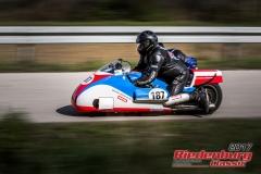 Franz Hartl / Alexandra Hartl,BMW Renngespann Kneeler,BJ:  1976, 1000 ccm,Startnummer :  187