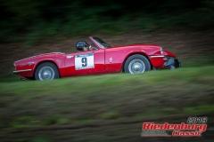 Triumph Spitfire BJ:  1972, 1300 ccm Tom Rinsland,  Regensburg Startnummer:  009