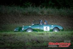 Austin Healy Sprite MK II BJ:  1962, 948 ccm Kurt Polegek,  Au / Hallertau Startnummer:  004