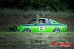 Opel Manta BJ:  1971, 2000 ccm Harald Baur,  Merching Startnummer:  023