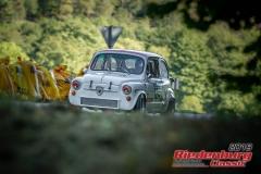 Fiat Abarth tc BJ:  1971, 1000 ccm Walter Westermeier,  Kranzberg Startnummer:  124