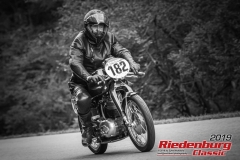 NSU Max Sport BJ:  1954, 250 ccm Helmut Reichel, Weißenburg Startnummer:  182