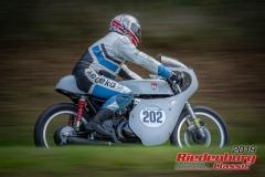 Honda CB R BJ:  1974, 250 ccm Roland Demnick, Rain Startnummer:  202