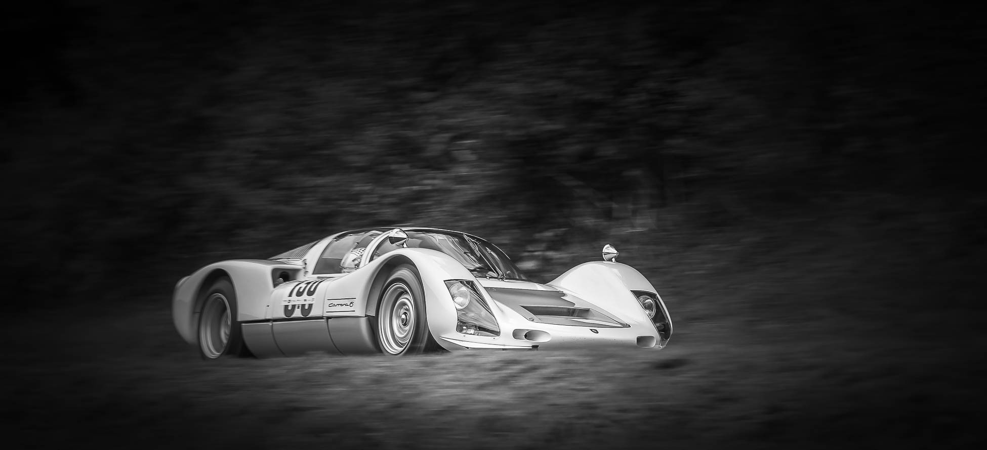 Porsche 906 - Robert Jung - black&white