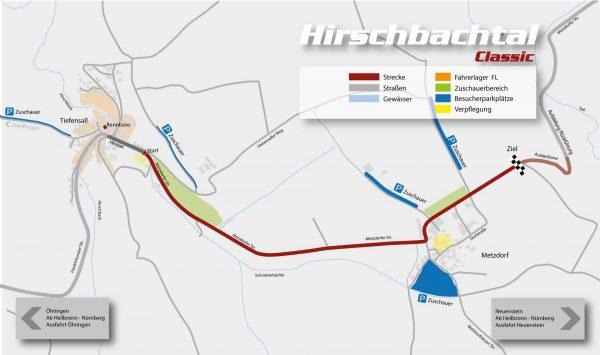 Hirschbachtal Classic Strecke Plan