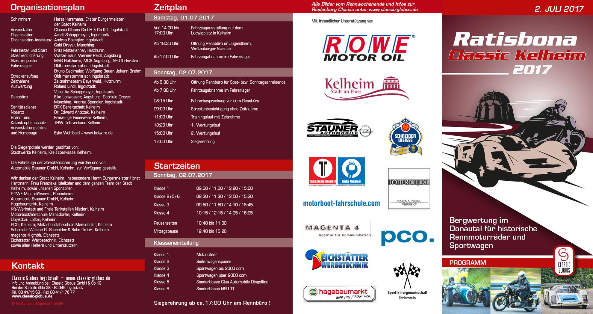 Flyer Ratisbona Classic Kelheim 2017 aussen